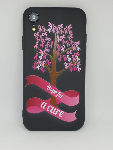 Breast Cancer Hope for a Cure Slim Black Apple Iphone Samsung Phone Shockproof Case Cover