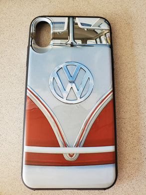 VW 23 Window VDUB Bus Sealing Wax Red Front View Apple Iphone Samsung Phone Shockproof Case Cover