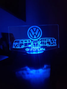 Custom led acrylic night light with remote
