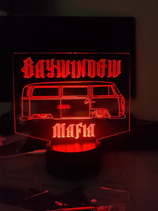 BAYWINDOW MAFIA Custom led acrylic night light with remote