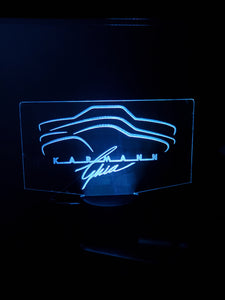 Custom Ghia led acrylic night light 12 colors with remote