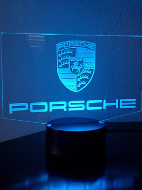 Custom Porsche led acrylic night light 12 colors with remote
