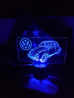 Custom VW Bug led acrylic night light with remote
