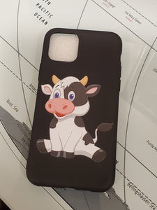 Cute Baby Cow Cartoon Apple Iphone Samsung Phone Shockproof Case Cover
