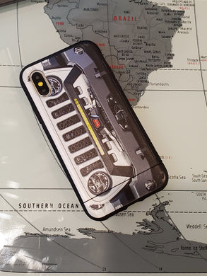 Bright White Jeep Grill Apple Iphone Samsung Phone Shockproof Case Cover Rubicon Sahara JL JT JK YJ TJ WRANGLER