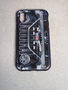 Black Jeep Grill Apple Iphone Samsung Phone Shockproof Case Cover Rubicon Sahara JL JT JK YJ TJ WRANGLER