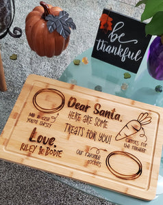 Custom Dear Santa snack board