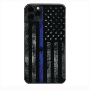 Blue Lives Matter Grunge Flag ART Iphone Samsung Phone Shockproof Case Cover