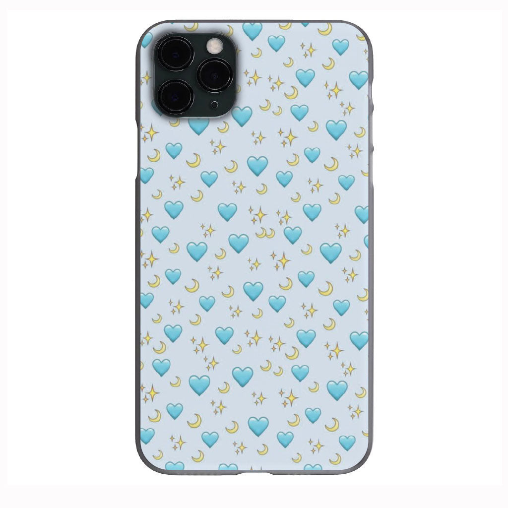 Blue Hearts with Stars and Moons Apple Iphone Samsung Phone Shockproof Case Cover