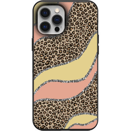 Classy Cute Cheetah Fur print Apple Iphone Samsung Phone Shockproof Case Cover