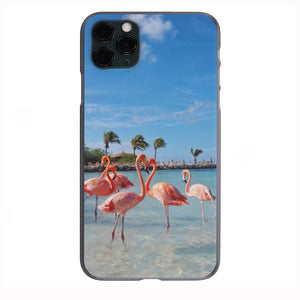Flamingos Mingling Apple Iphone Samsung Phone Shockproof Case Cover