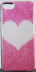 Furry Pink Heart Apple Iphone Samsung Phone Shockproof Case Cover