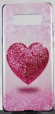Glitter Pink Heart Apple Iphone Samsung Phone Shockproof Case Cover