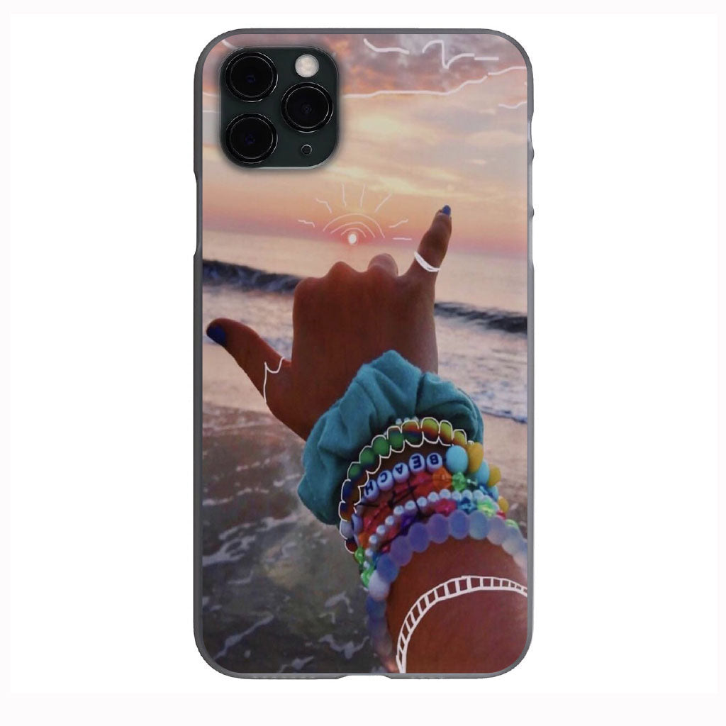 VSCO Hang Loose Beach Vibes Apple Iphone Samsung Phone Shockproof Case Cover