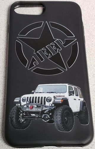 STAR Jeep Grill Apple Iphone Samsung Phone Shockproof Case Cover Rubicon Sahara JL JT JK YJ TJ WRANGLER