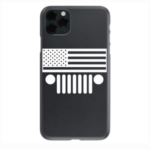 Jeep Flag Horizontal Apple Iphone Samsung Phone Shockproof Case Cover Rubicon Sahara JL JT JK YJ TJ WRANGLER