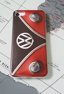 Classic Car Classic Red and Black split bus Apple Iphone Samsung Phone Shockproof Case Cover