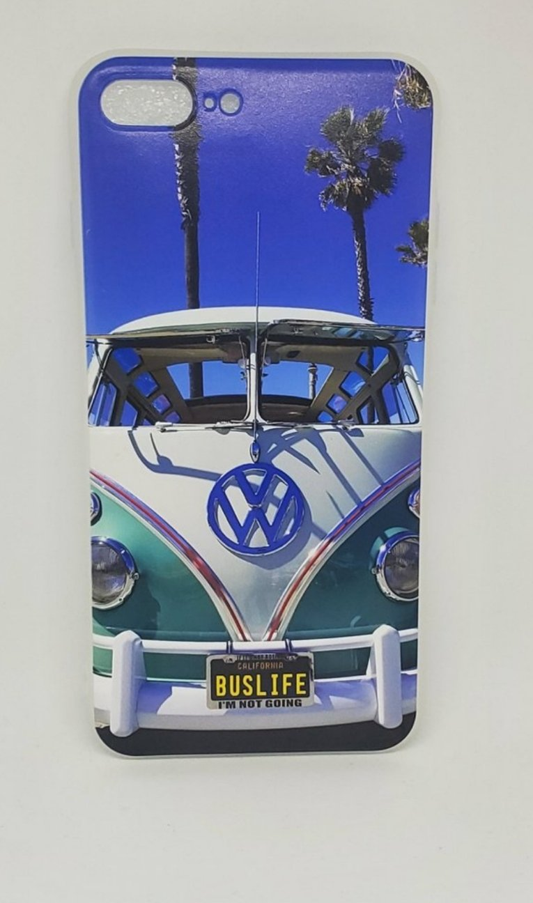 Classic Deluxe Vdub Split Bus Blue skys Apple Iphone Samsung Phone Shockproof Case Cover