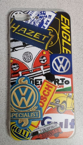 Vintage Vdub PATCHES Apple Iphone Samsung Phone Shockproof Case Cover