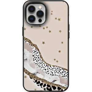 Cute Stars Marble Cheetah print Apple Iphone Samsung Phone Shockproof Case Cover