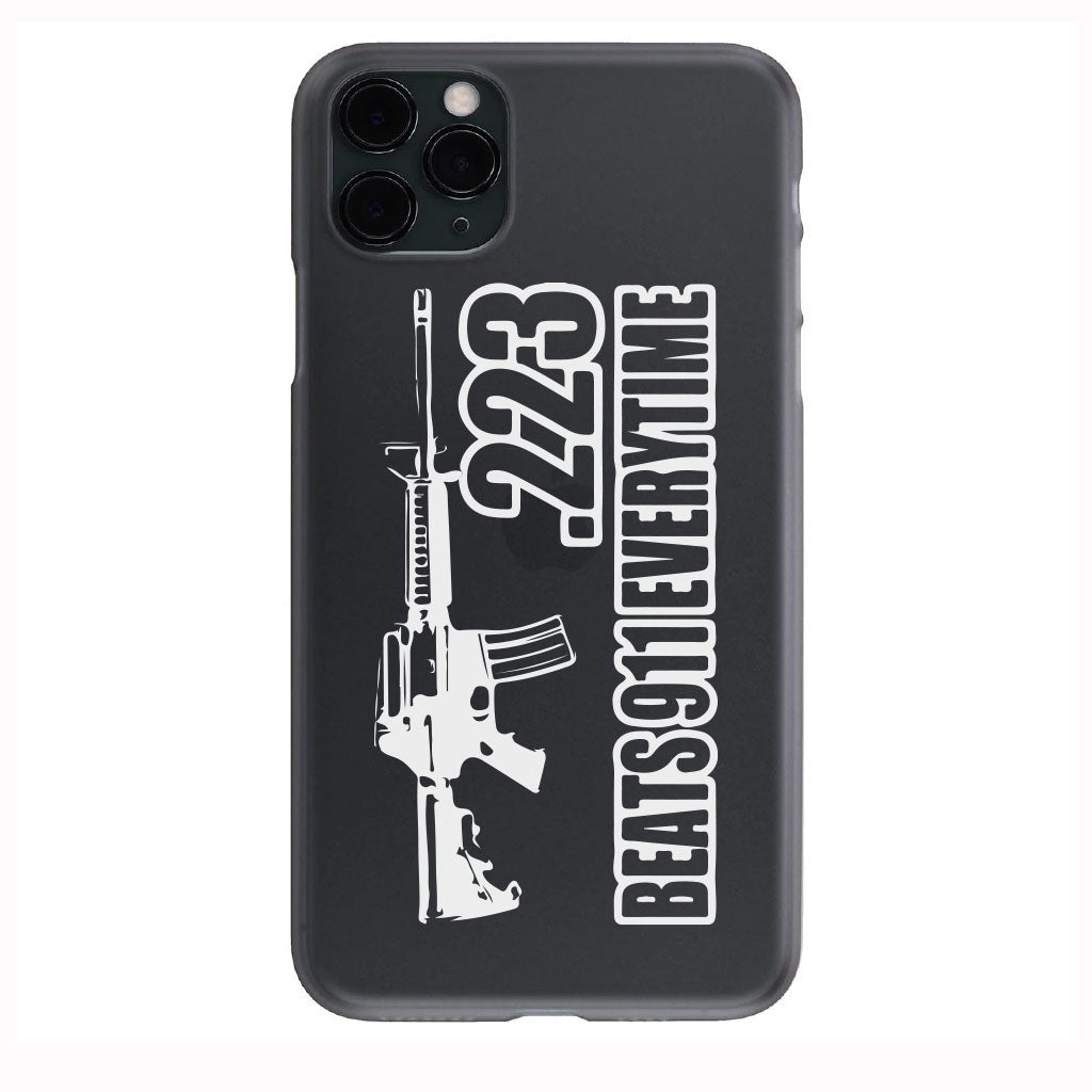 .223 always beats 911 Apple Iphone Samsung Phone Shockproof Case Cover
