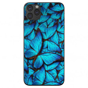 Blue Purple Butterfly Camo Apple Iphone Samsung Phone Shockproof Case Cover