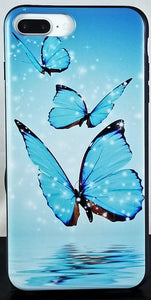 Blue Butterflys Apple Iphone Samsung Phone Shockproof Case Cover