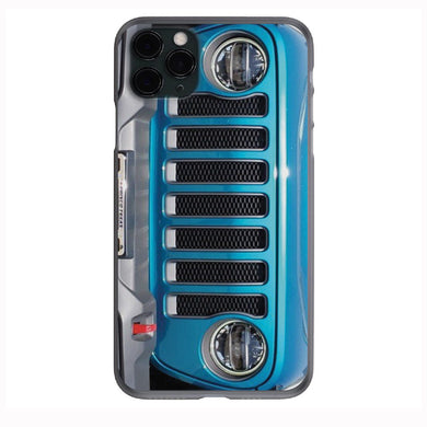 Bikini Pearl Blue Jeep Grill Apple Iphone Samsung Phone Shockproof Case Cover Rubicon Sahara JL JT JK YJ TJ WRANGLER