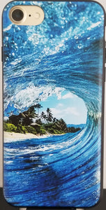 Blue Island Wave Phone Case Apple Iphone Samsung Phone Shockproof Case Cover