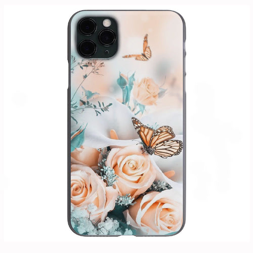 Aesthetic Butterflies and Roses Apple Iphone Samsung Phone Shockproof Case Cover
