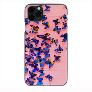 Butterflies on pink wall Apple Iphone Samsung Phone Shockproof Case Cover