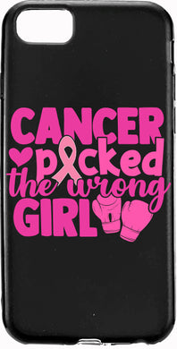 Cancer Picked the Wrong Girl Breast Cancer Pink Ribbon Apple Samsung Case Cover