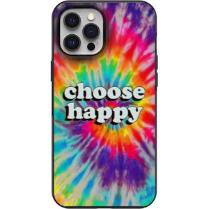 Choose Happy Tye Dye Apple Iphone Samsung Phone Shockproof Case Cover