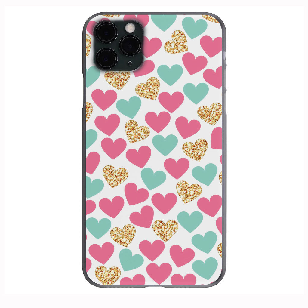 Pink Teal Gold Glitter Apple Iphone Samsung Phone Shockproof Case Cover