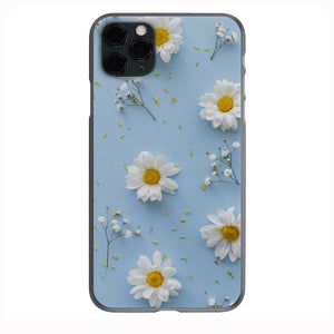 Daisy Flowers Light Blue Apple Iphone Samsung Shockproof Case Cover