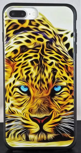 Blue Eye Cheetah Phone Case Apple Iphone Samsung Phone Shockproof Case Cover