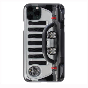 White Jeep Grill 2 Apple Iphone Samsung Phone Shockproof Case Cover Rubicon Sahara JL JT JK YJ TJ WRANGLER