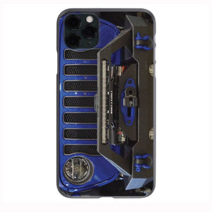 Ocean Blue Jeep Grill Apple Iphone Samsung Phone Shockproof Case Cover Rubicon Sahara JL JT JK YJ TJ WRANGLER