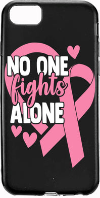 No One Fights Alone Pink Ribbon Cancer Apple Samsung Case Cover