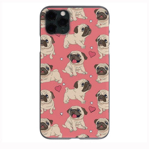 Pink Cute Pug Love Apple Iphone Samsung Phone Shockproof Case Cover