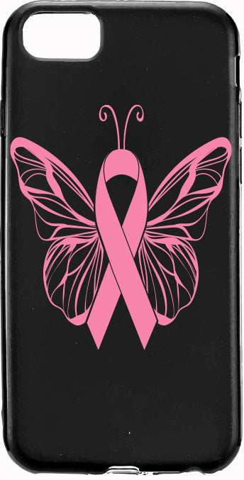 Pink Ribbon Butterfly Cancer Pink Ribbon Apple Samsung Case Cover