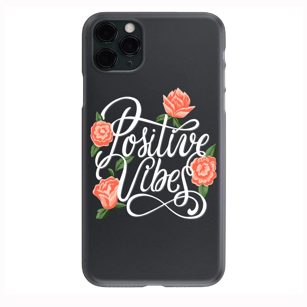 Peachy Postive VIBES Apple Iphone Samsung Phone Shockproof Case Cover