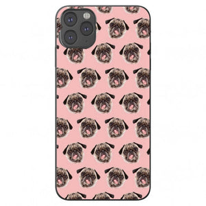 Pug Pattern Apple Iphone Samsung Phone Shockproof Case Cover