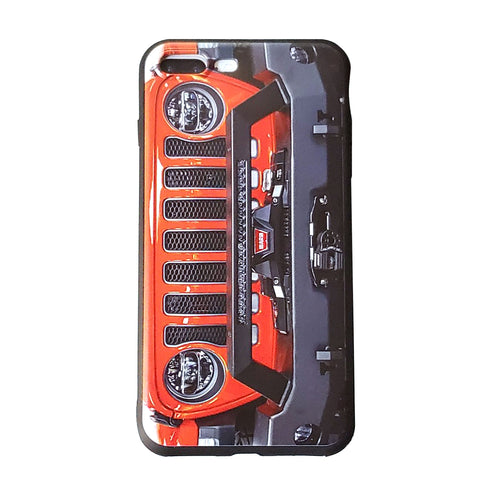 Punkn Orange Jeep Grill Apple Iphone Samsung Phone Shockproof Case Cover Rubicon Sahara JL JT JK YJ TJ WRANGLER