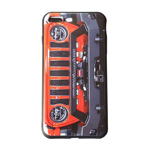 Punk'n Orange Jeep Grill Apple Iphone Samsung Phone Shockproof Case Cover Rubicon Sahara JL JT JK YJ TJ WRANGLER