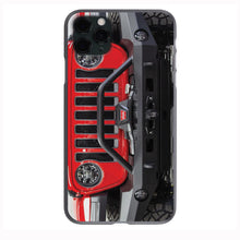 FireCracker Red Jeep Grill Apple Iphone Samsung Phone Shockproof Case Cover Rubicon Sahara JL JT JK YJ TJ WRANGLER