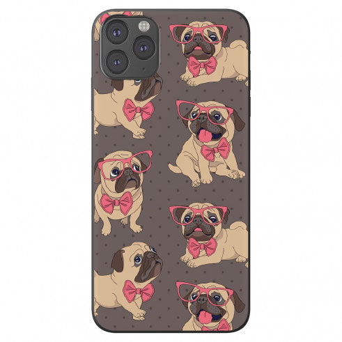 Drawn Bow Tie Pug Apple Iphone Samsung Shockproof Case Cover