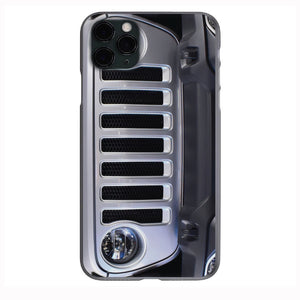 Billet Silver Jeep Grill Apple Iphone Samsung Phone Shockproof Case Cover Rubicon Sahara JL JT JK YJ TJ WRANGLER