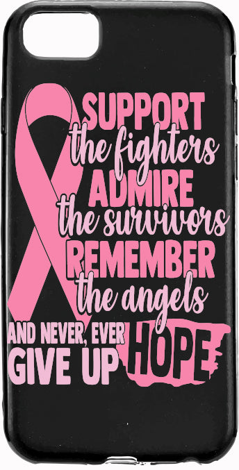 Support the Fighter Pink Ribbon Cancer Apple Samsung Case Cover