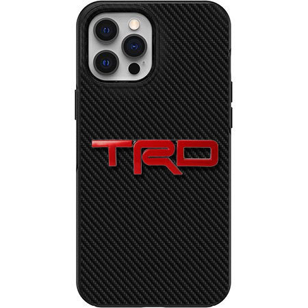 TRD Carbon Fiber print Apple Iphone Samsung Phone Shockproof Case Cover